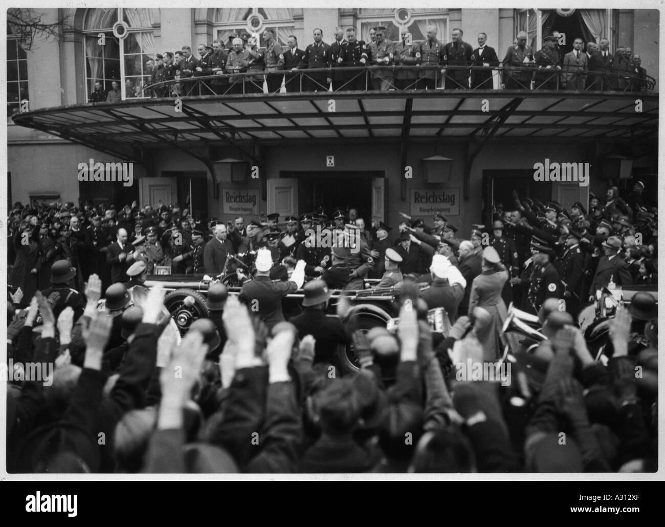 Hitler Kroll Opera 1936 - Stock Image