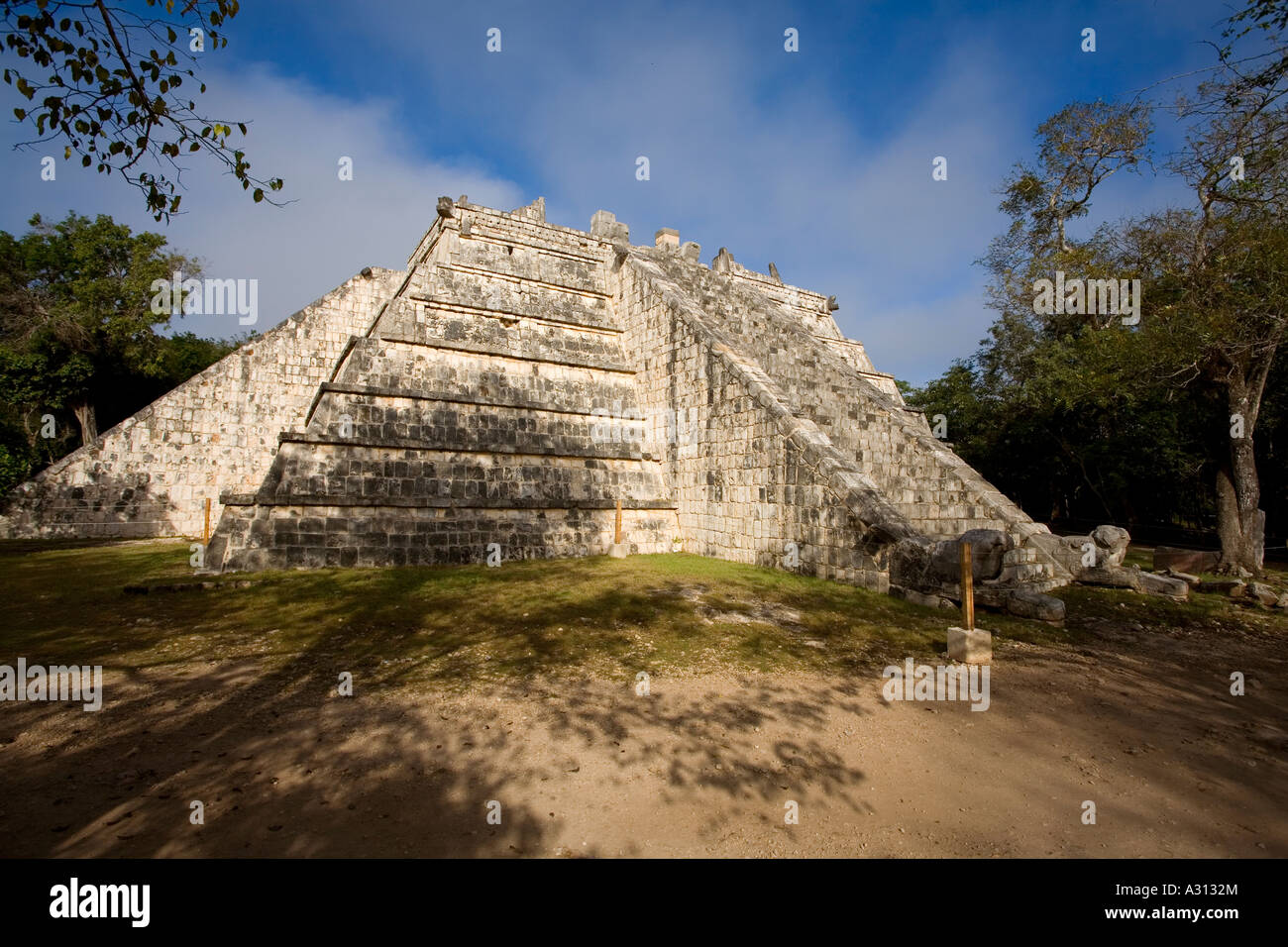 The Ossuary or tomb of the High Priest at the ruined Mayan city of Chichen Itza in Mexico Stock Photo