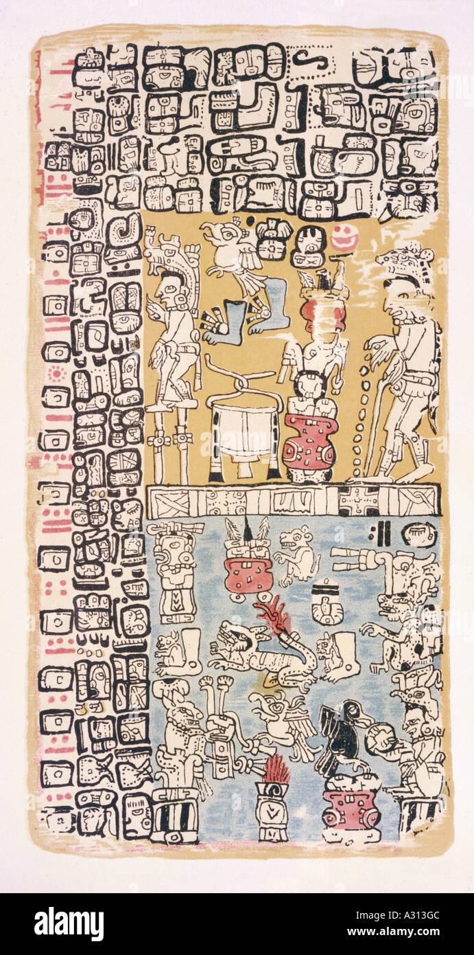 Codex Troano 2 - Stock Image