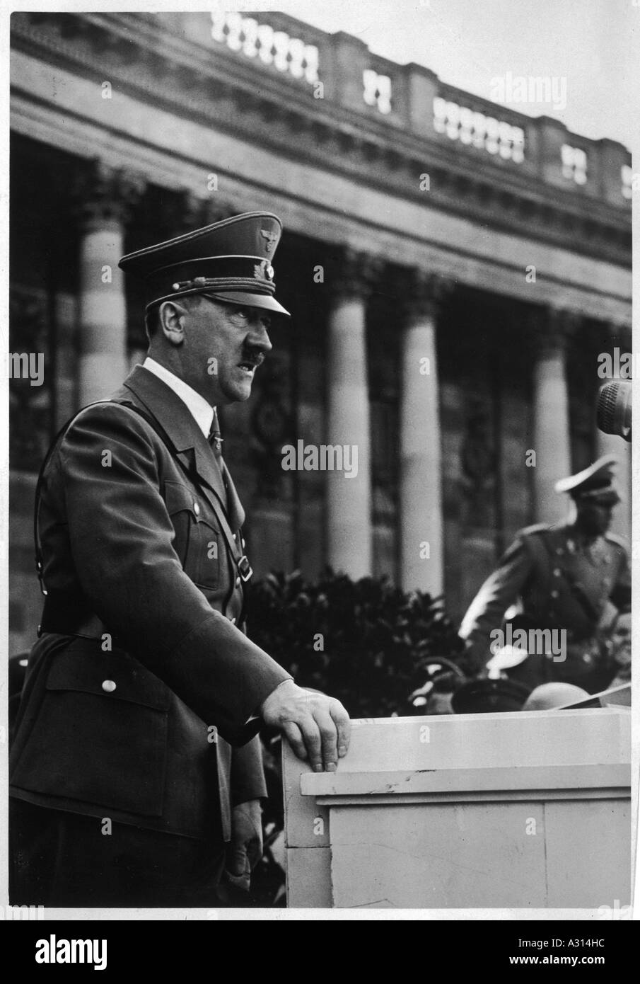 Hitler Heldenplatz 1938 - Stock Image
