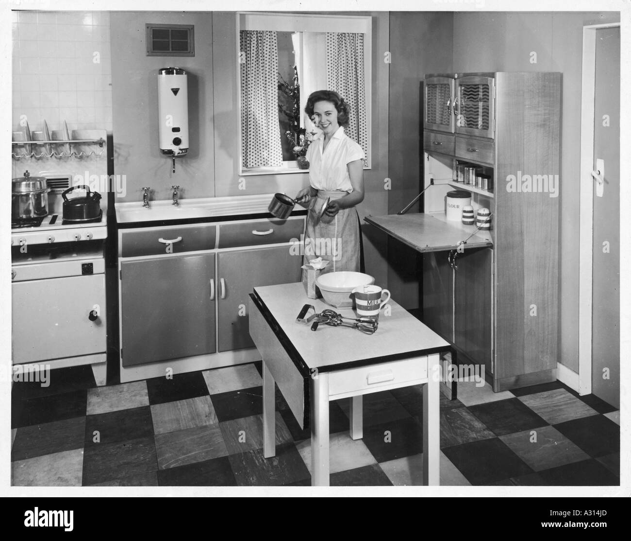 Latest 1950s kitchen stock image