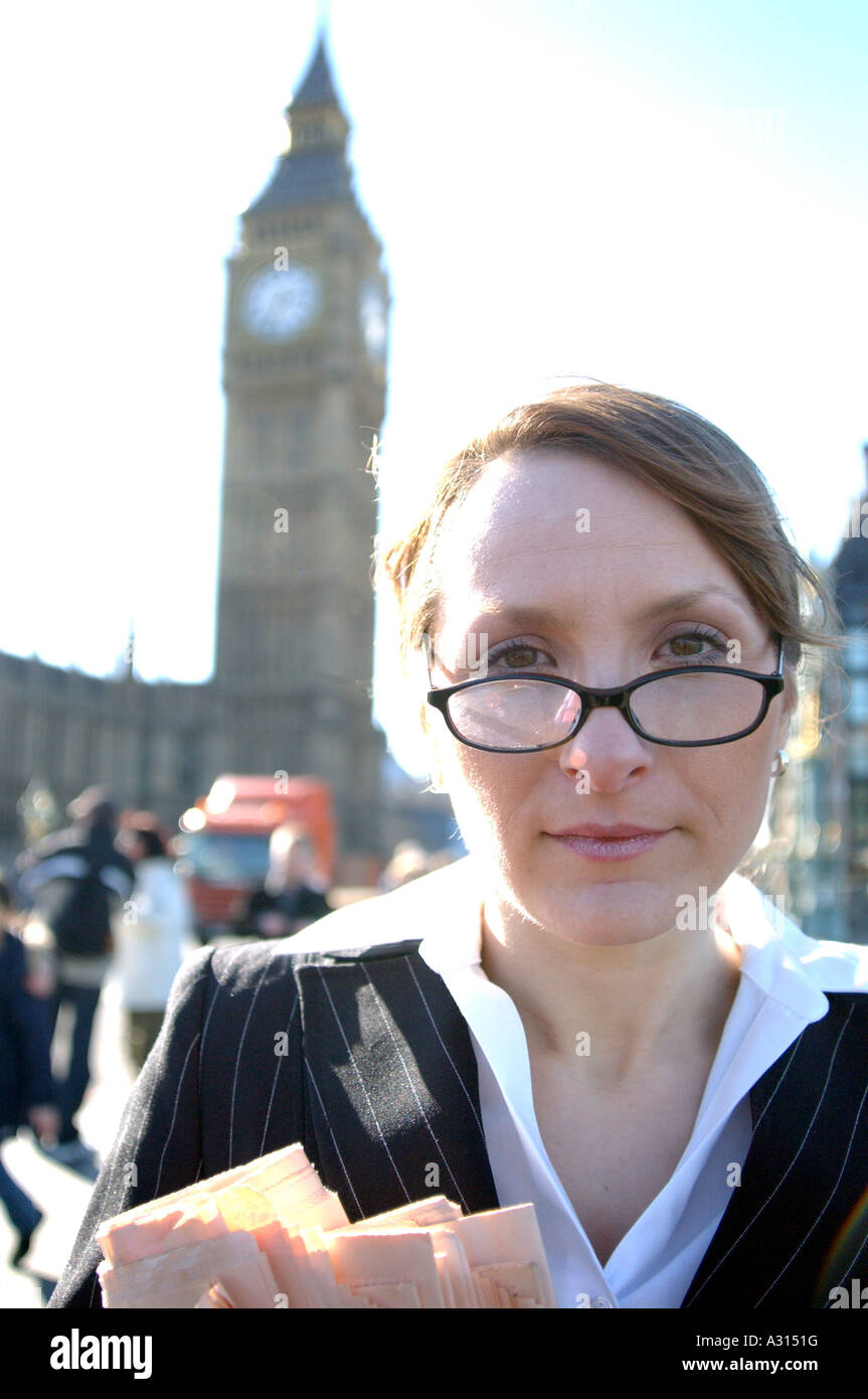 Royalty free photograph of British business woman portrait London UK - Stock Image