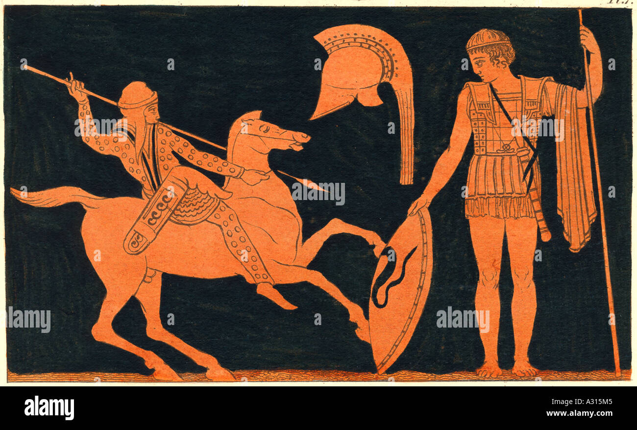 Ancient Greek Soldiers - Stock Image