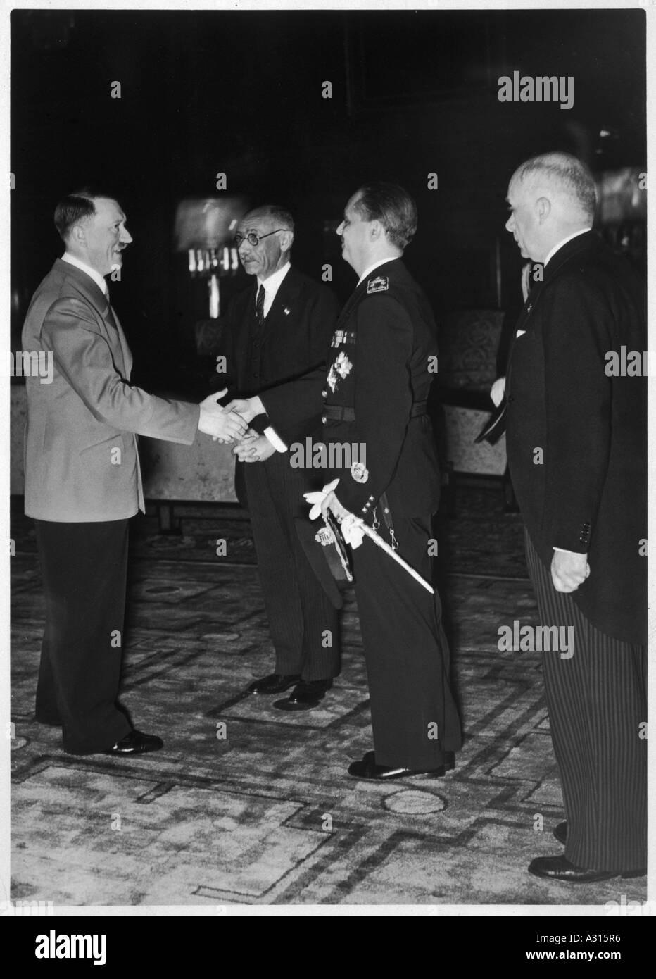 Hitler Hungary Visit - Stock Image