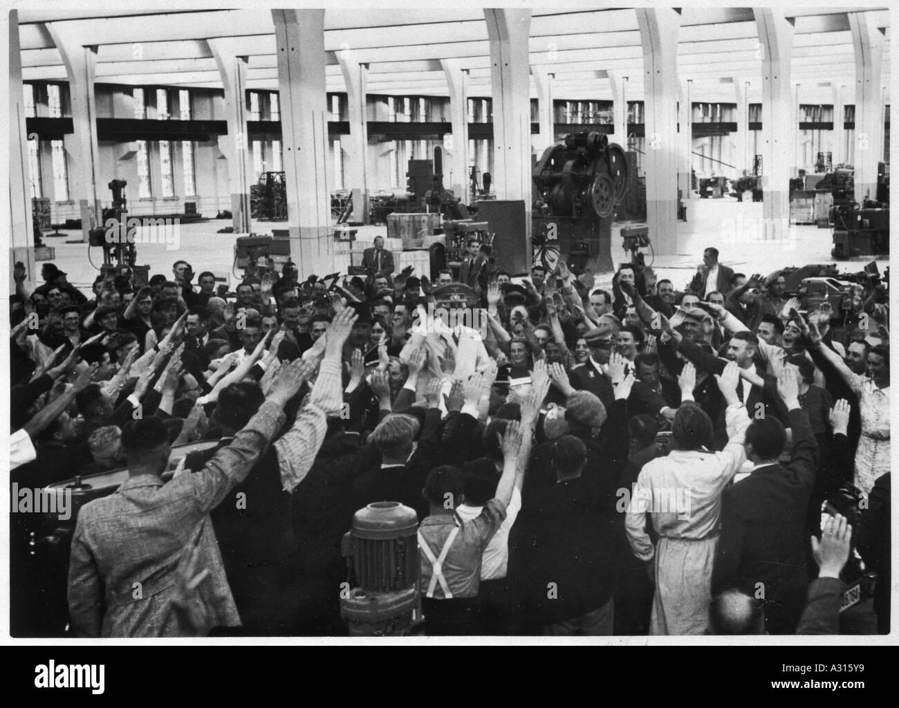 Hitler Inspects Vw Works - Stock Image