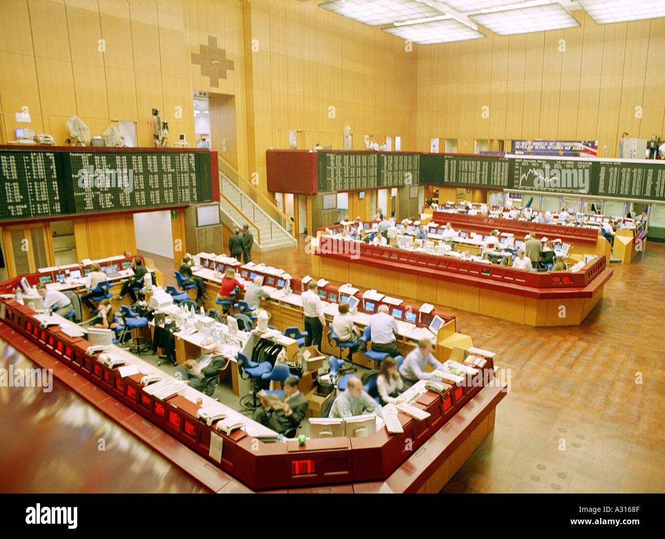 Schillerpassage Frankfurt frankfurt stock exchange trading floor the borse stock photo