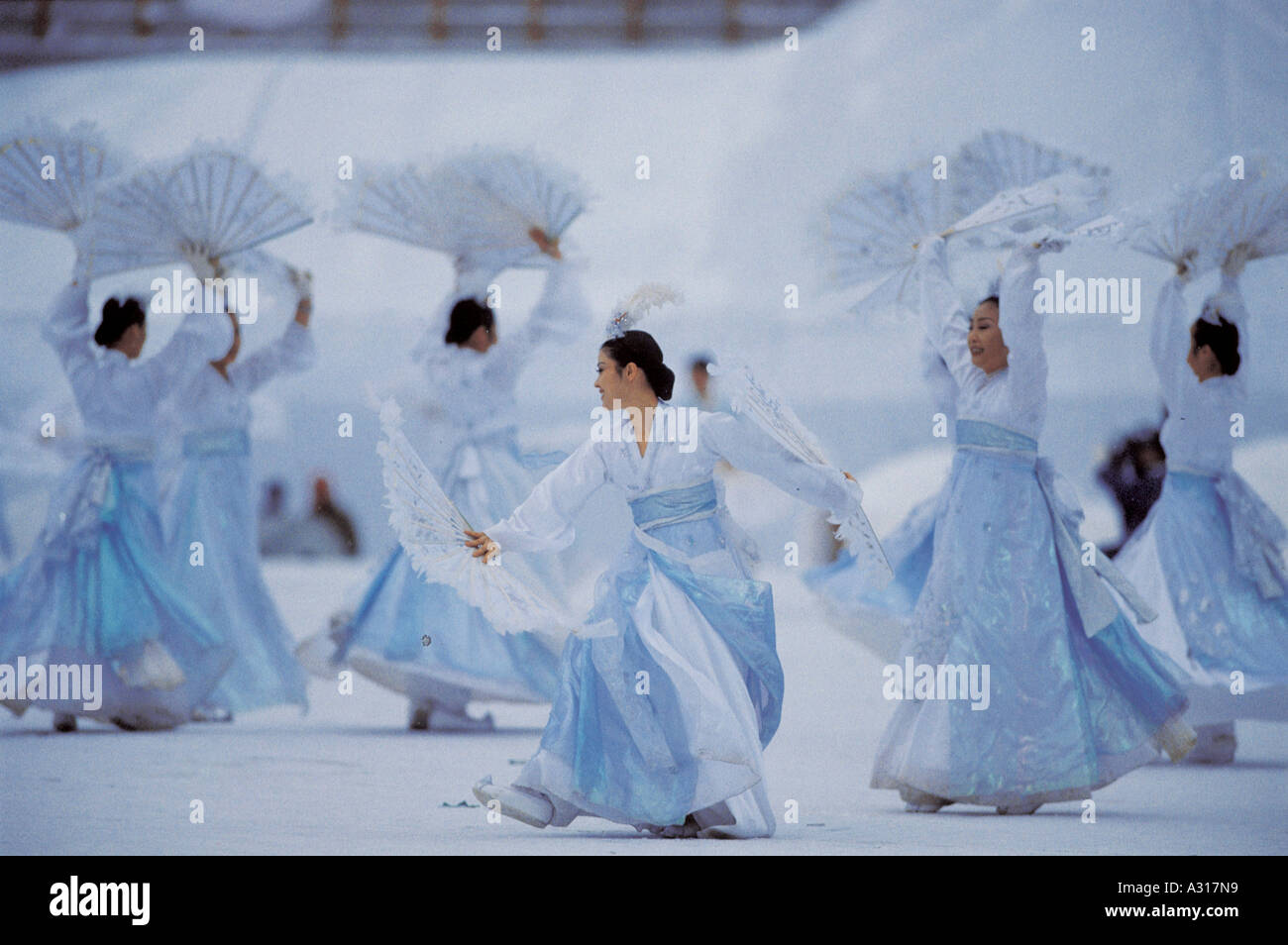 Fan (Personal Accessory),Folding Fan,Hanbok,Tradit - Stock Image