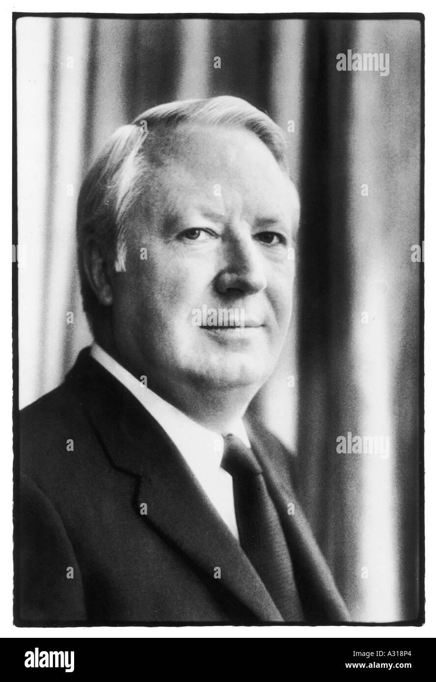 Edward Heath Photograph Stock Photo