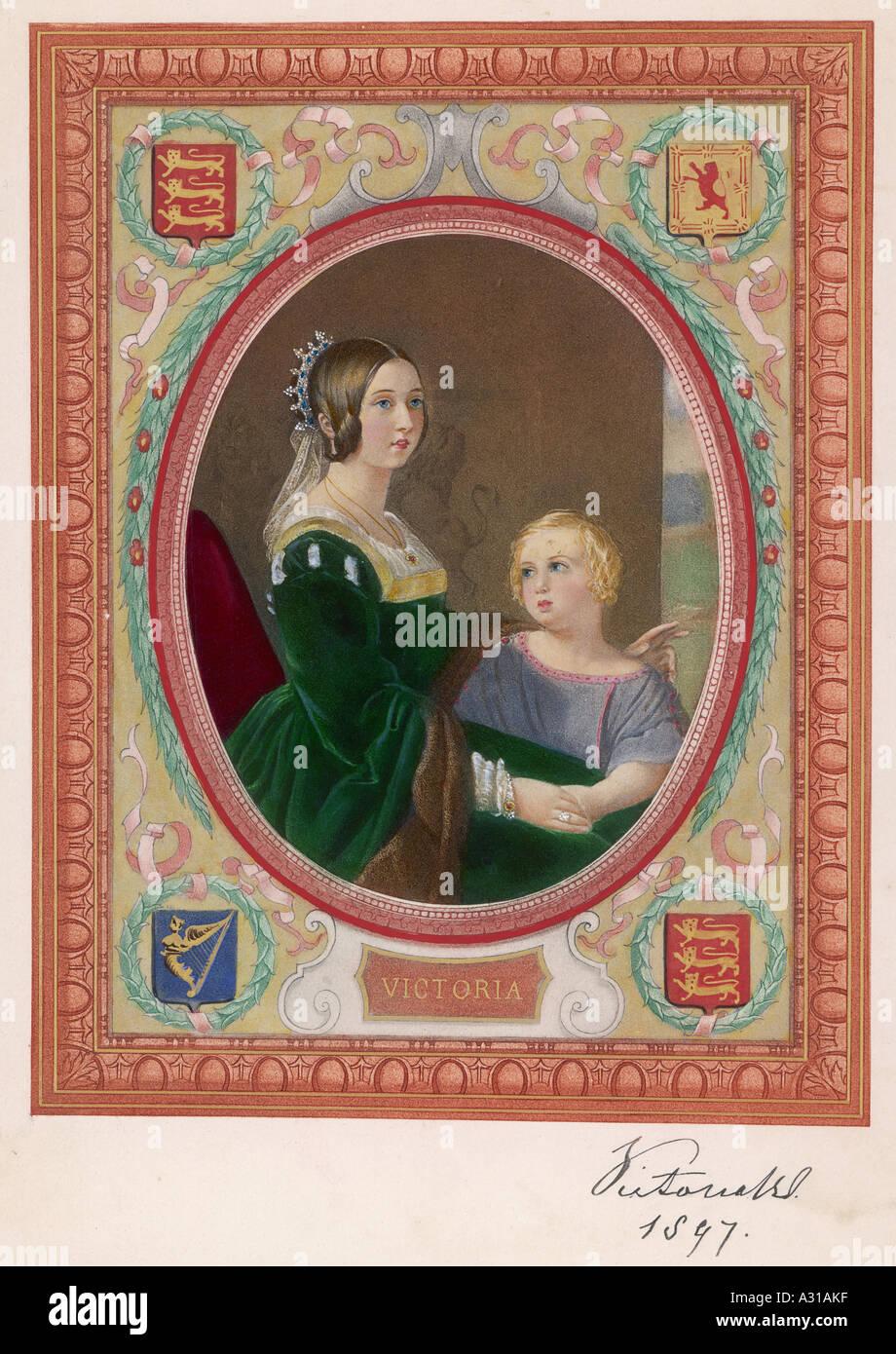 Edward Vii Mother 1847 - Stock Image