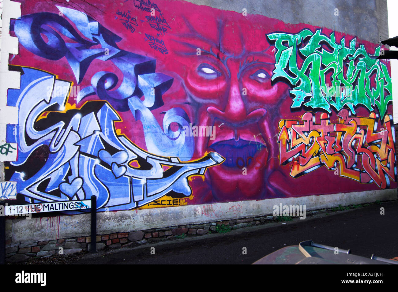 Graffiti wall art montpelier bristol uk