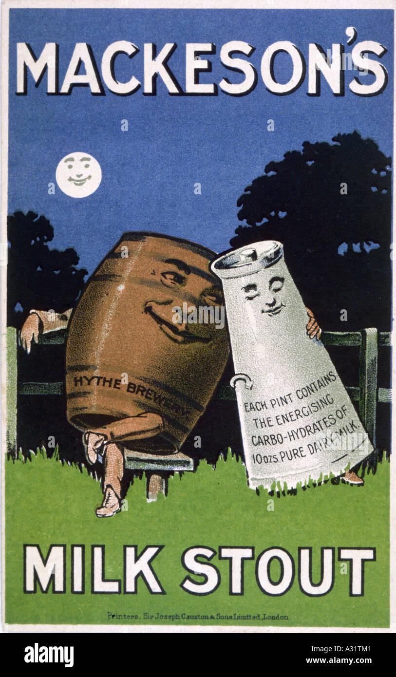 Advert Mackesons Stout - Stock Image