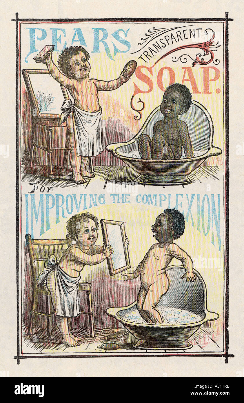 Advert Pears Soap 1893 - Stock Image