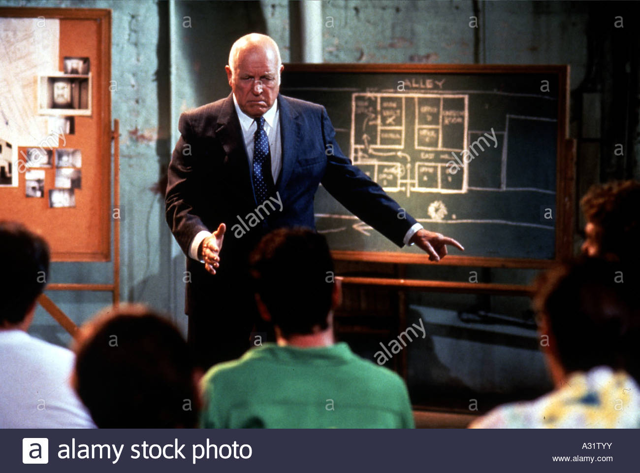 RESERVOIR DOGS 1991 Rank film with  Lawrence Tierney as Joe Cabot - Stock Image