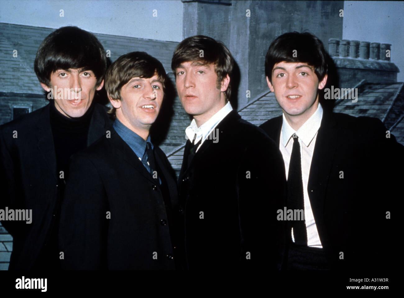 BEATLES in 1964 from left George Harrison, Ringo Starr, John Lennon and Paul McCartney - Stock Image