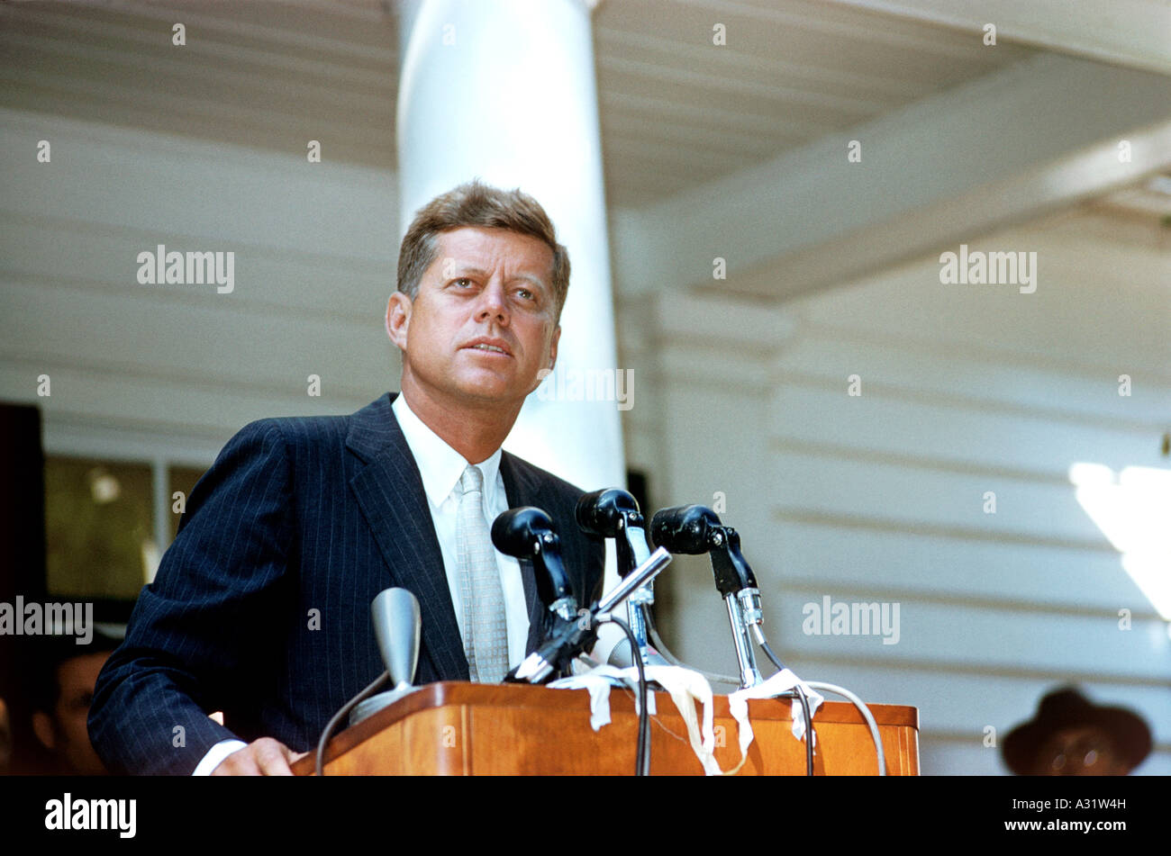 JOHN F KENNEDY US President 1917 to 1963 - Stock Image