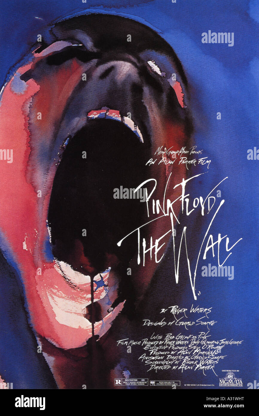 PINK FLOYD THE WALL poster for 1982 MGM film - Stock Image