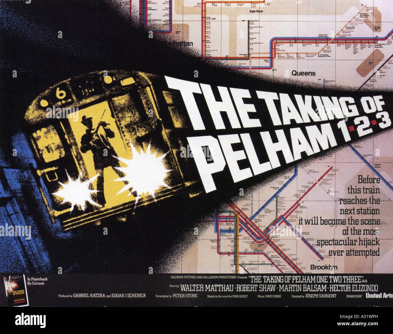 TAKING OF PELHAM 123 poster for 1974 UA film - Stock Image