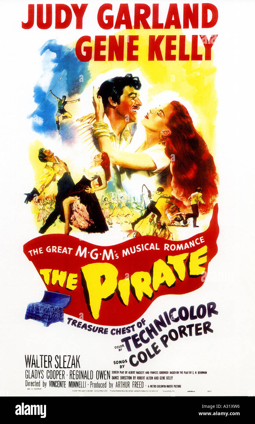 THE PIRATE poster for the 1948 MGM musical - Stock Image