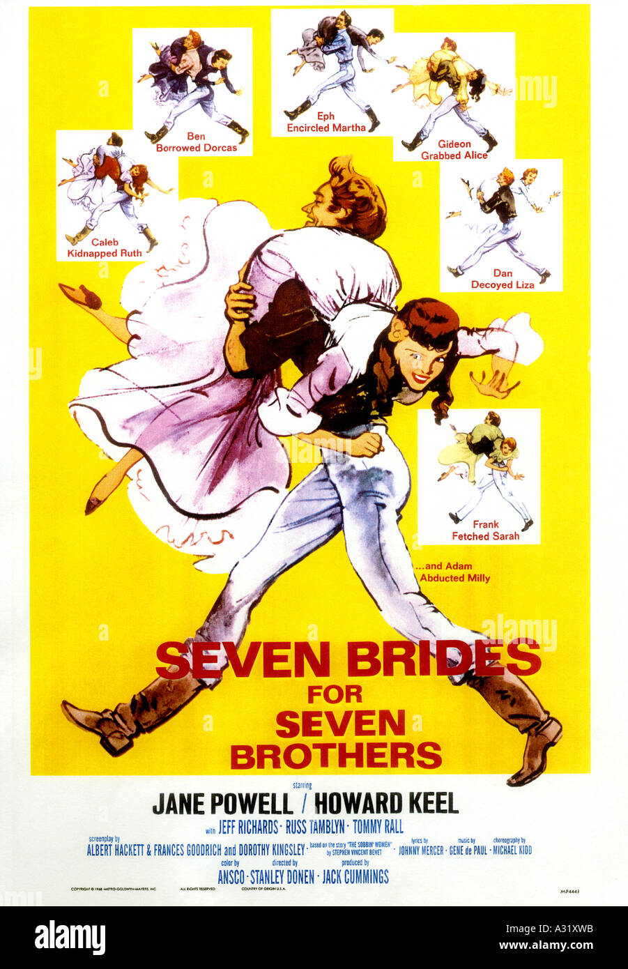 SEVEN BRIDES FOR SEVEN BROTHERS - Stock Image