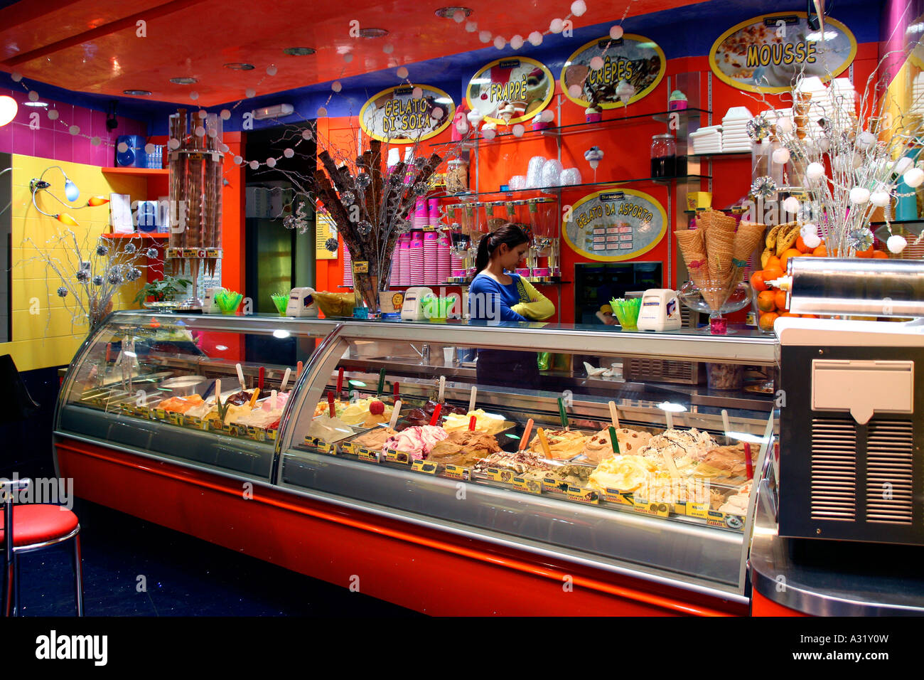 Ice Cream Parlour Interior Stock Photos Ice Cream Parlour Interior
