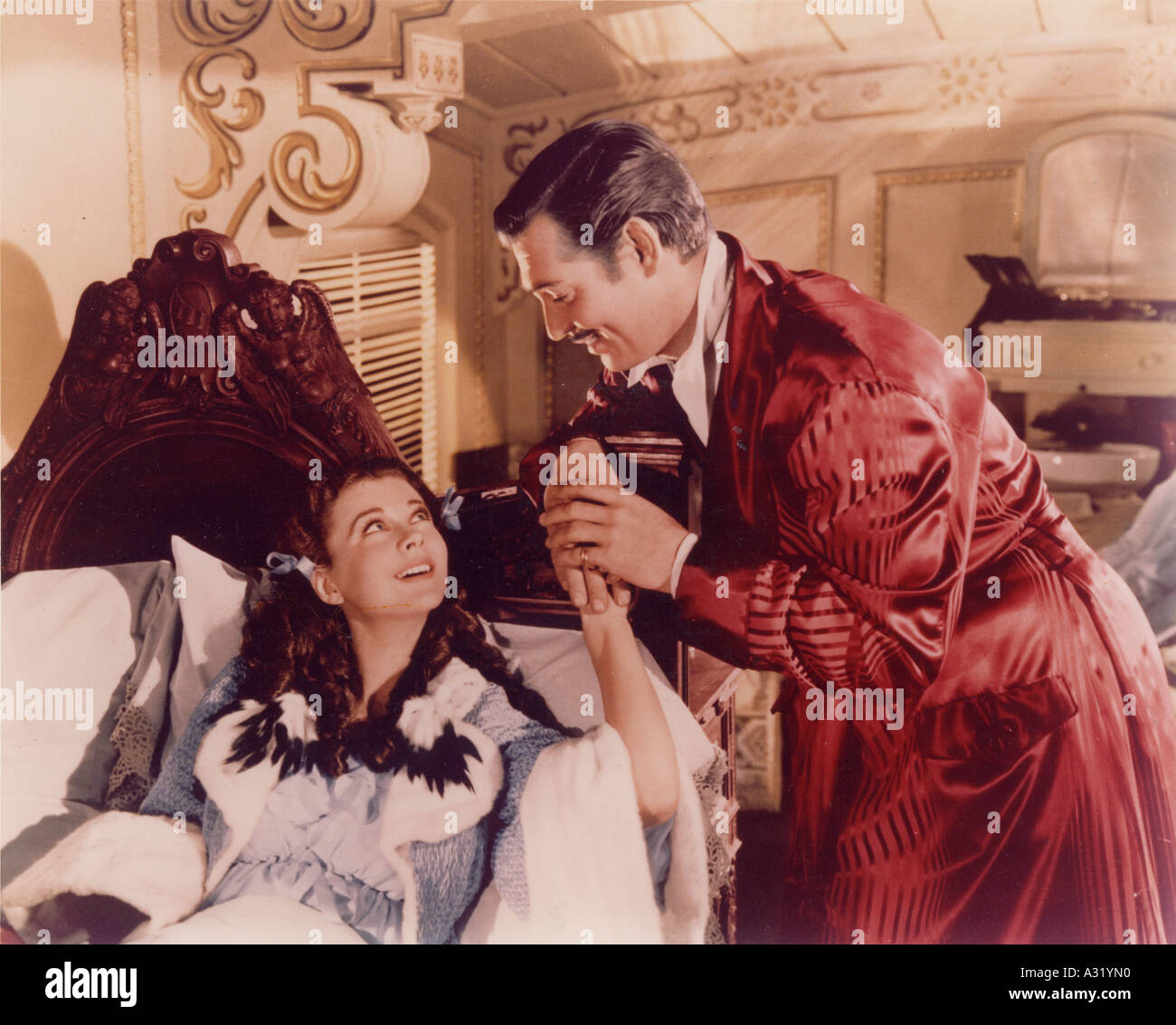 GONE WITH THE WIND Vivien Leigh and Clark Gable in the 1939 MGM film classic - Stock Image