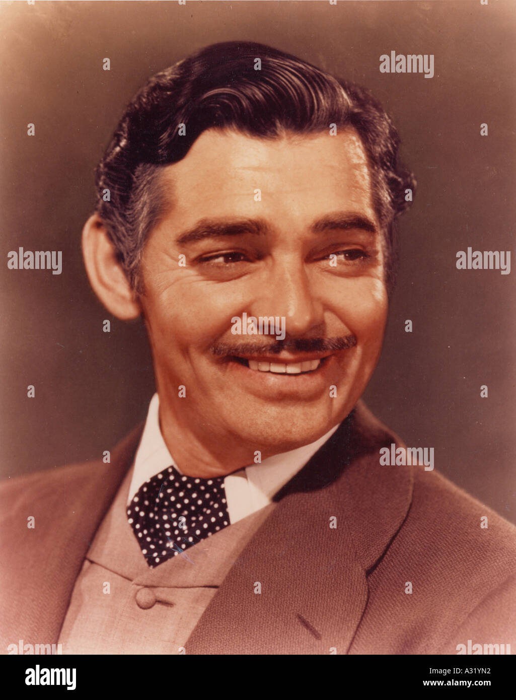 GONE WITH THE WIND Clark Gable in the 1939 MGM film classic - Stock Image