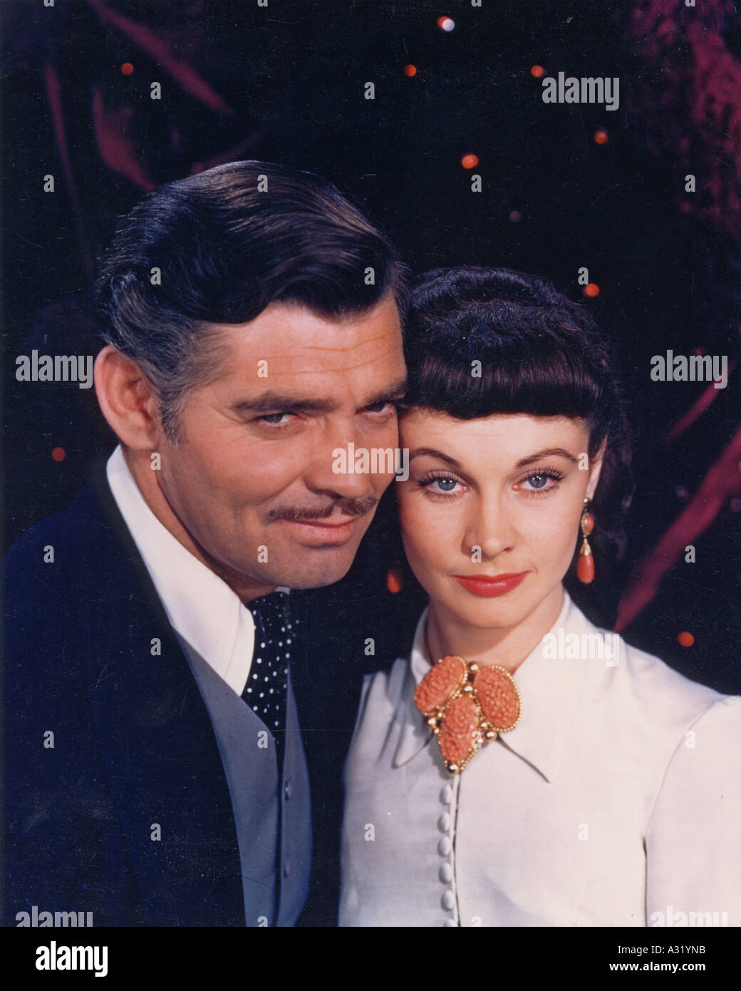 GONE WITH THE WIND Clark Gable and Vivien Leigh in the 1939 MGM film classic - Stock Image