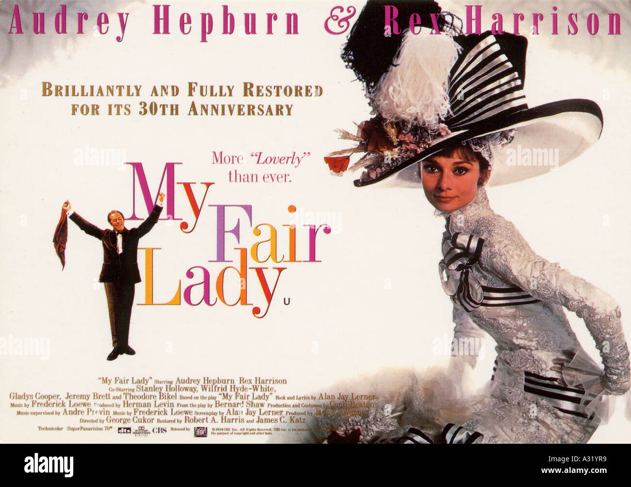 MY FAIR LADY poster for the 1964 Warner film musical - Stock Image
