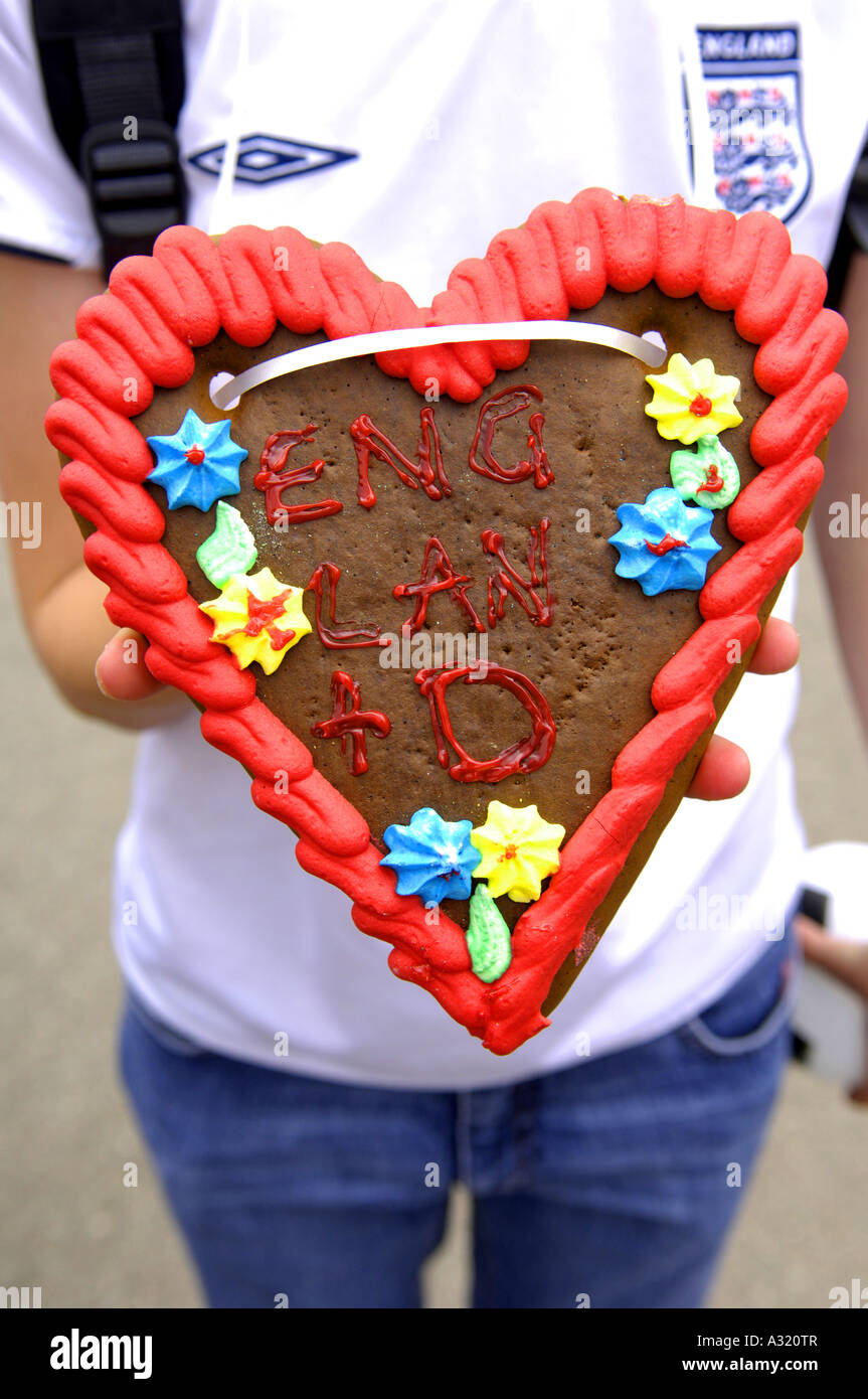 Girl England Fan Chocolate Heart A Time To Make Friends Slogan