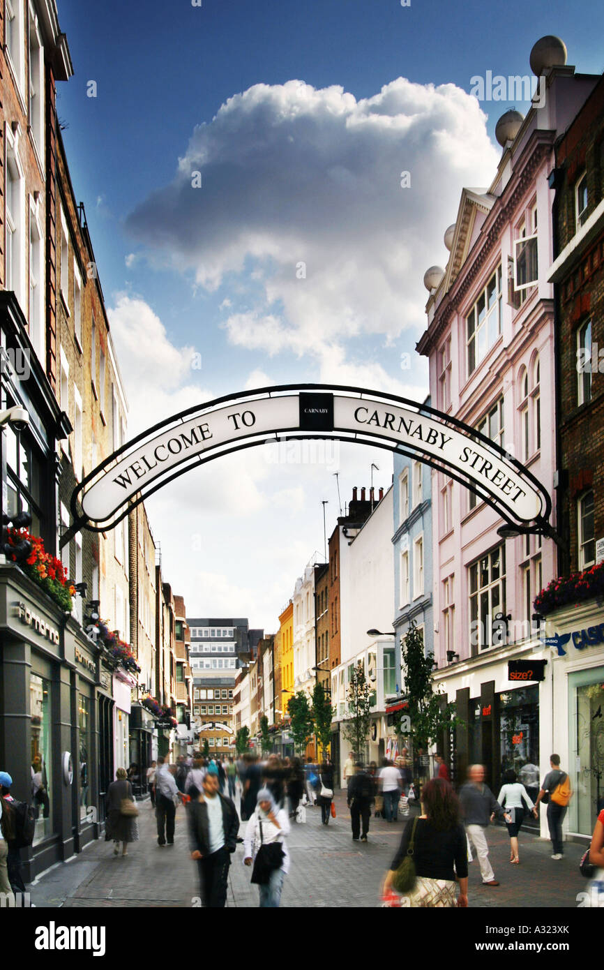 Carnaby Street in London - Stock Image
