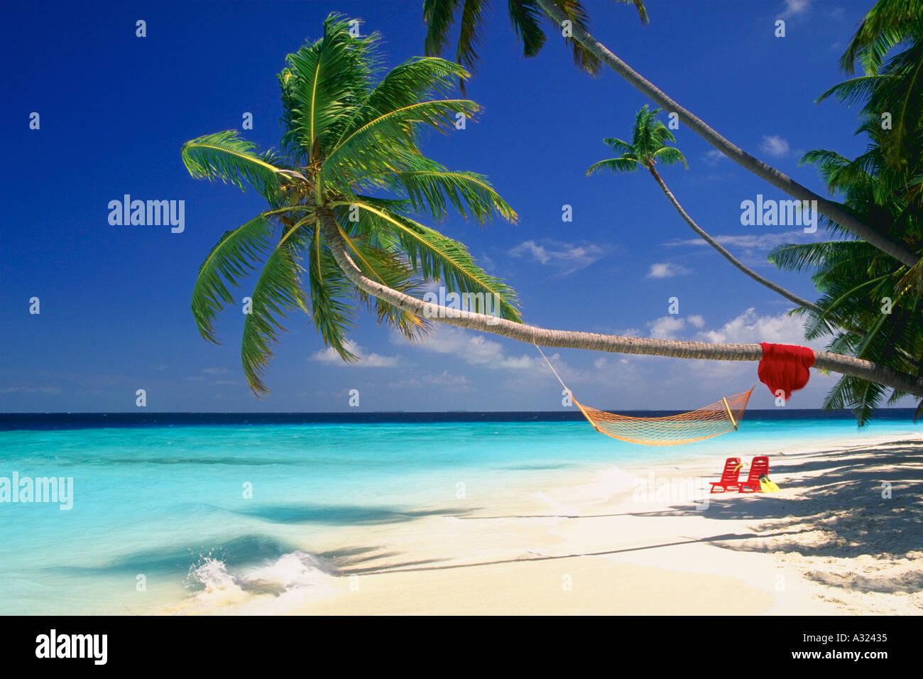 Super Beach Chairs Towel Ahmmock And Swim Fins On Beach Maldive Machost Co Dining Chair Design Ideas Machostcouk