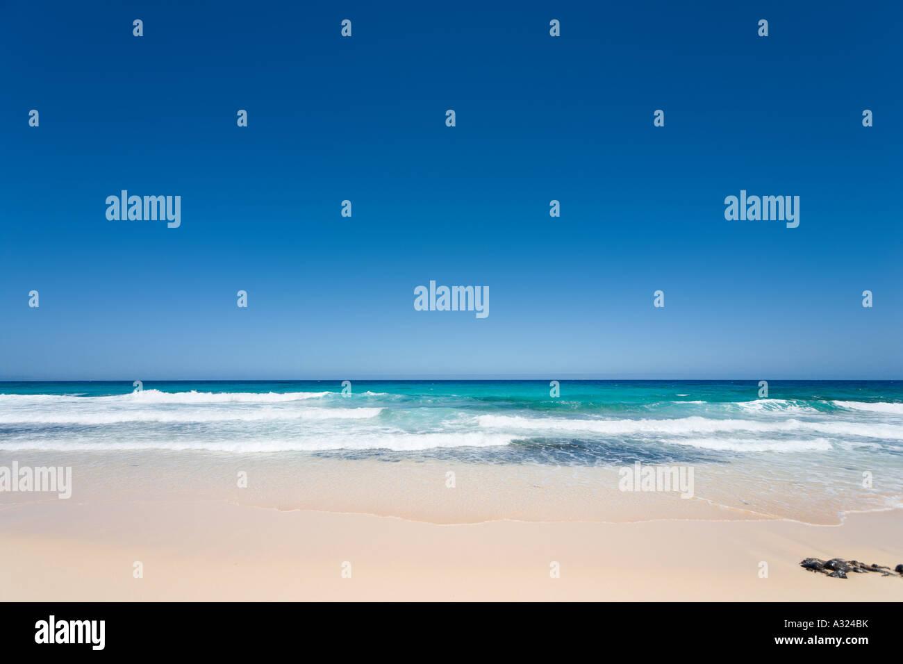 Beach in the Parque Natural de Corralejo, Fuerteventura, Canary Islands, Spain - Stock Image