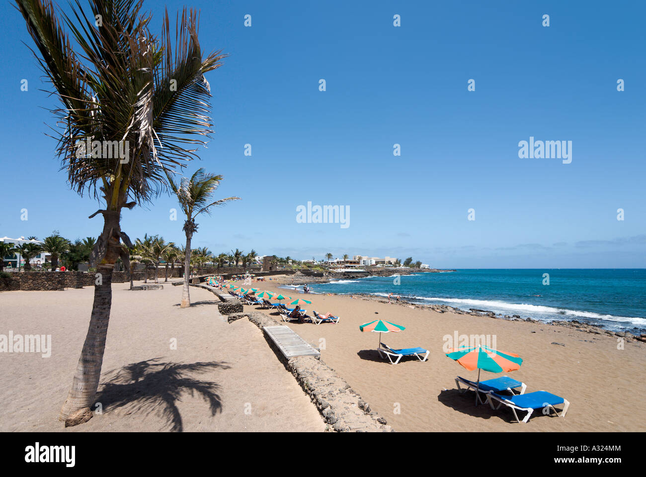 Beach At Playa Bastian Costa Teguise Lanzarote Canary Islands Stock Photo 10645171 Alamy