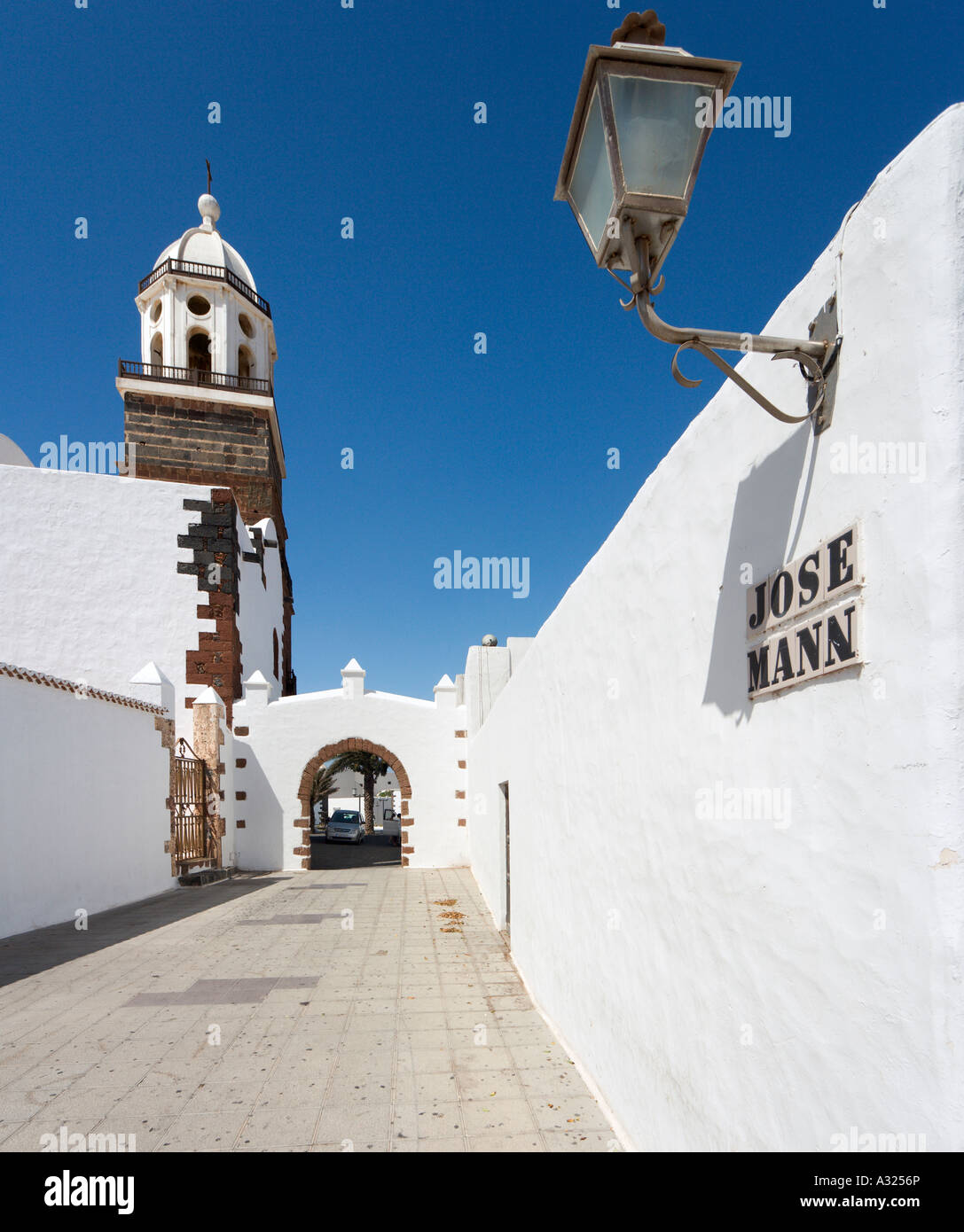 Iglesia de Nuestra Senora de Guadalupe, Teguise, Lanzarote, Canary Islands, Spain Stock Photo