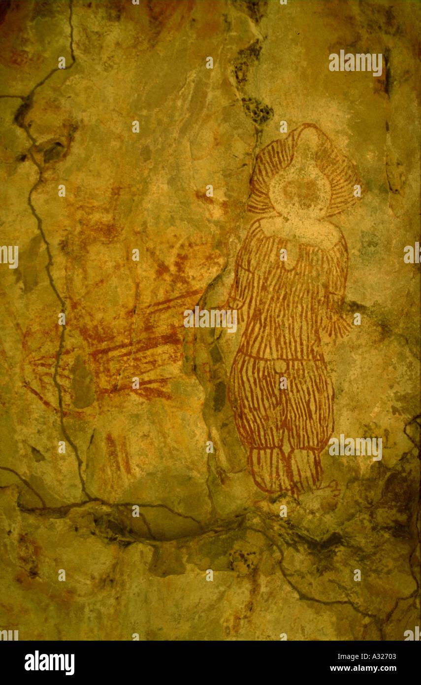 Aboriginal Rock Art Cave Painting Kimberleys Western Australia Stock ...
