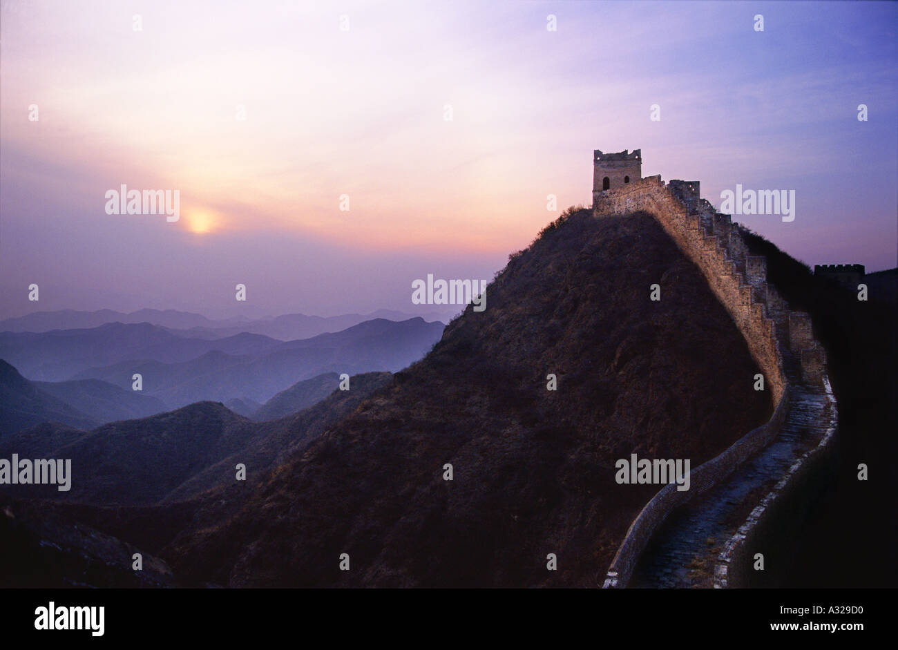 The Great Wall of China near Beijing China - Stock Image
