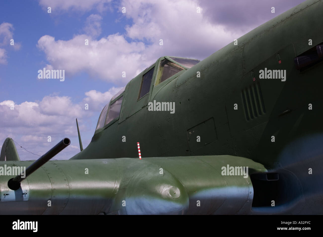 low-flying attack aircraft aeroplane Russia IL2 war Stock Photo
