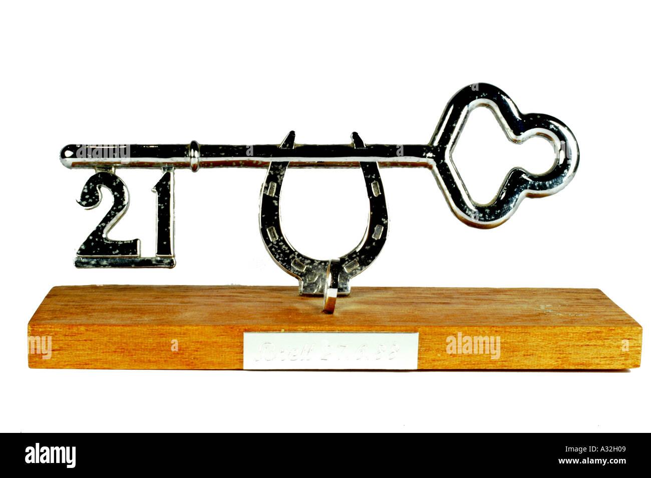 21 Key - Stock Image