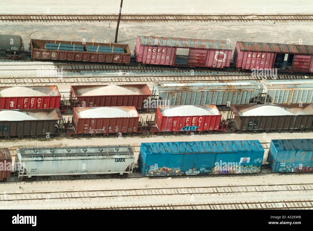 trains railroad railroading tracks transportation box cars boxcars