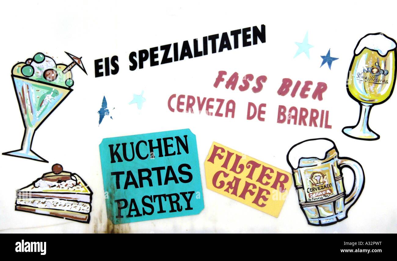 bar sign bier fass beer alcohol tenerife puerto de la cruz spain ...