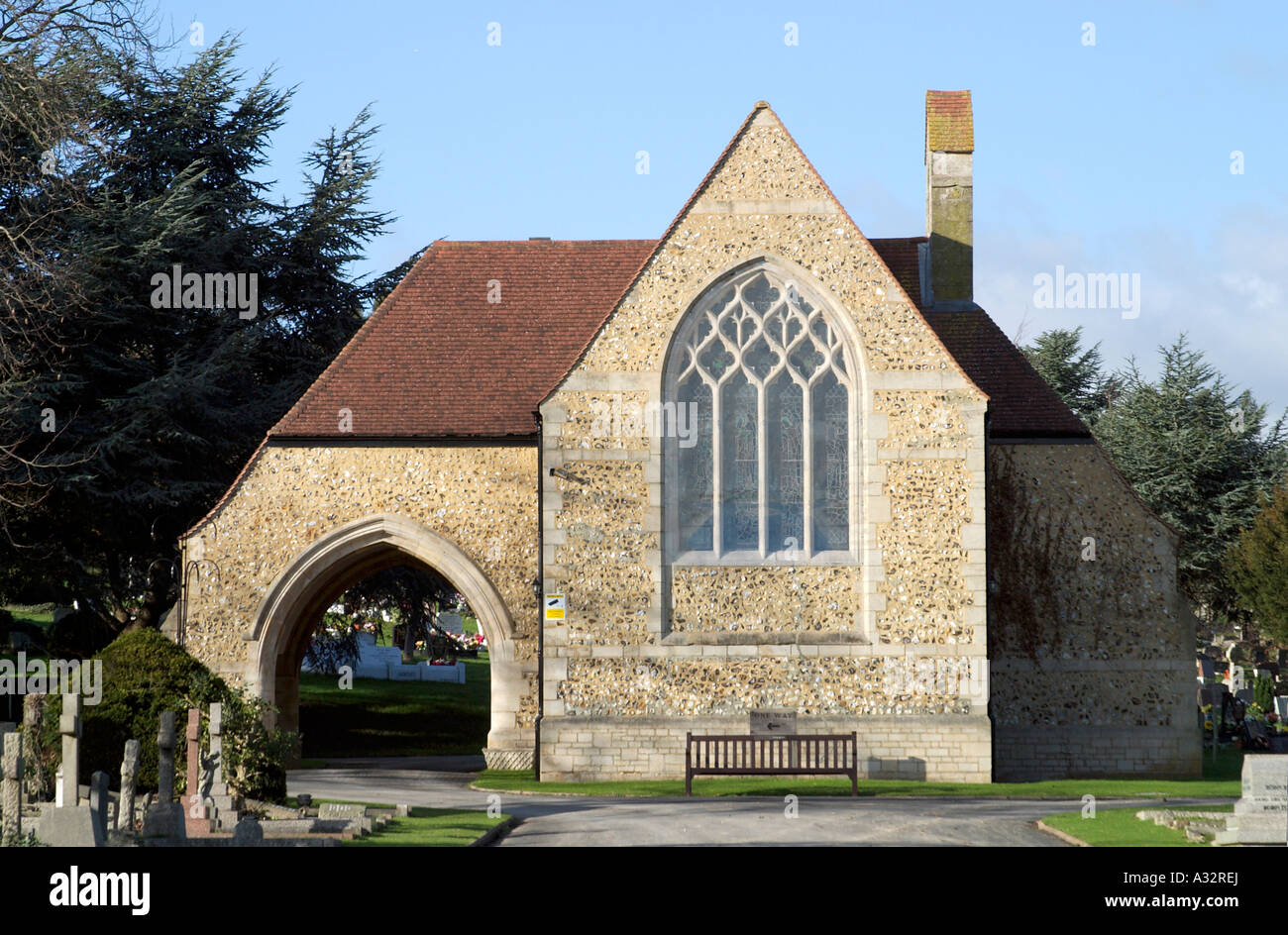 Chapel at Durrington Cemetery - Stock Image