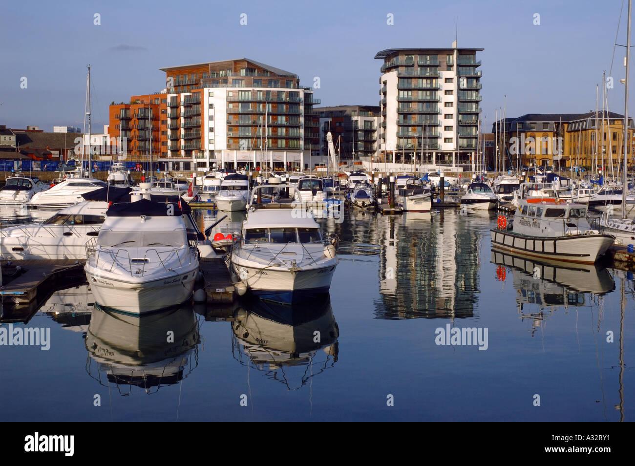 Ocean Village Marina, Southampton, Hampshire, England, UK, GB. - Stock Image