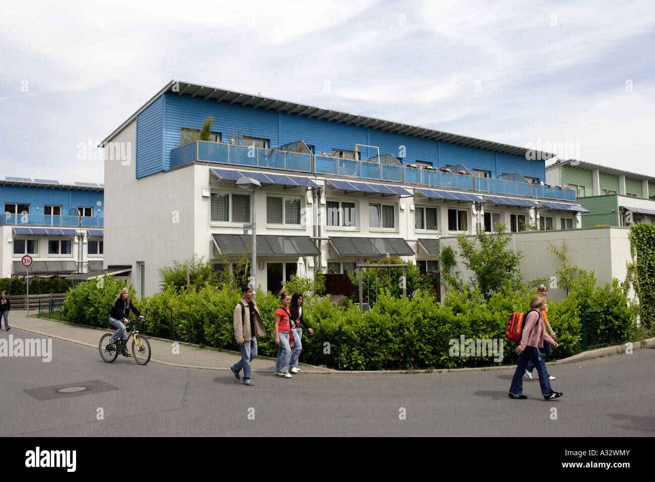 The solar community in Gelsenkirchen, Germany Stock Photo