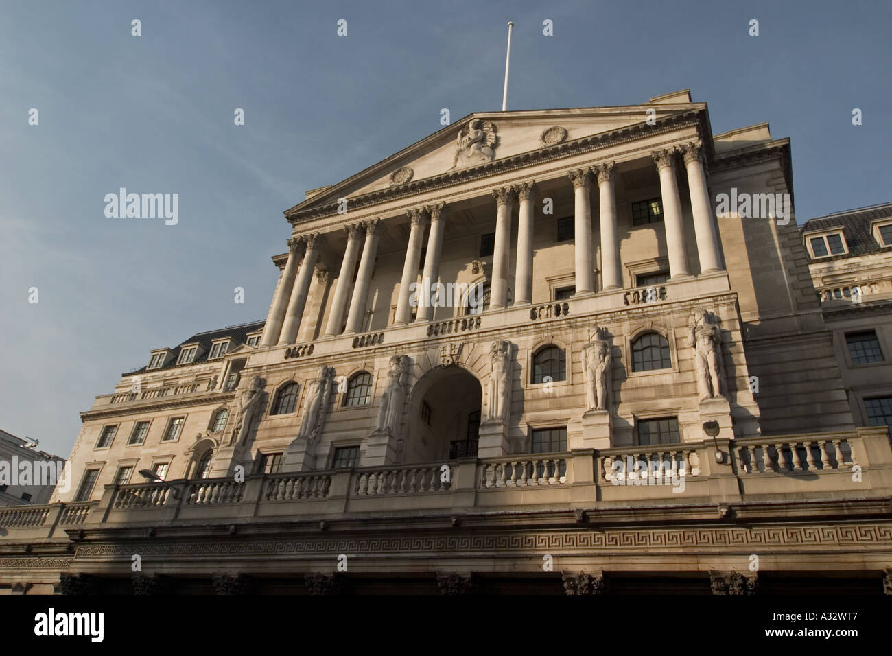 Bank of England on Threadneedle Street in the heart of London financial district - Stock Image