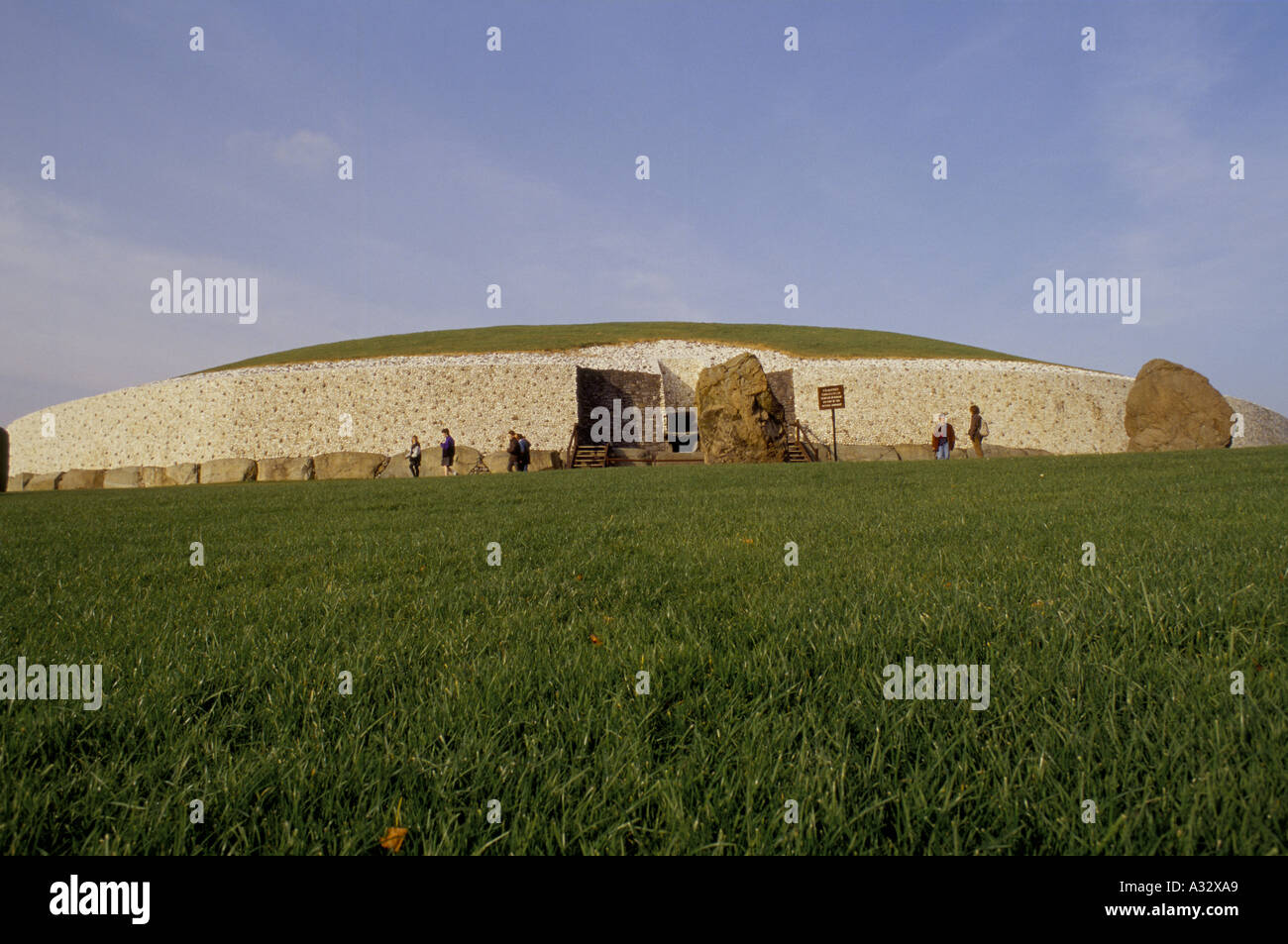 Newgrange, Ireland, built some 5,300 years ago, this passage building is one of the oldest built structures in the Stock Photo