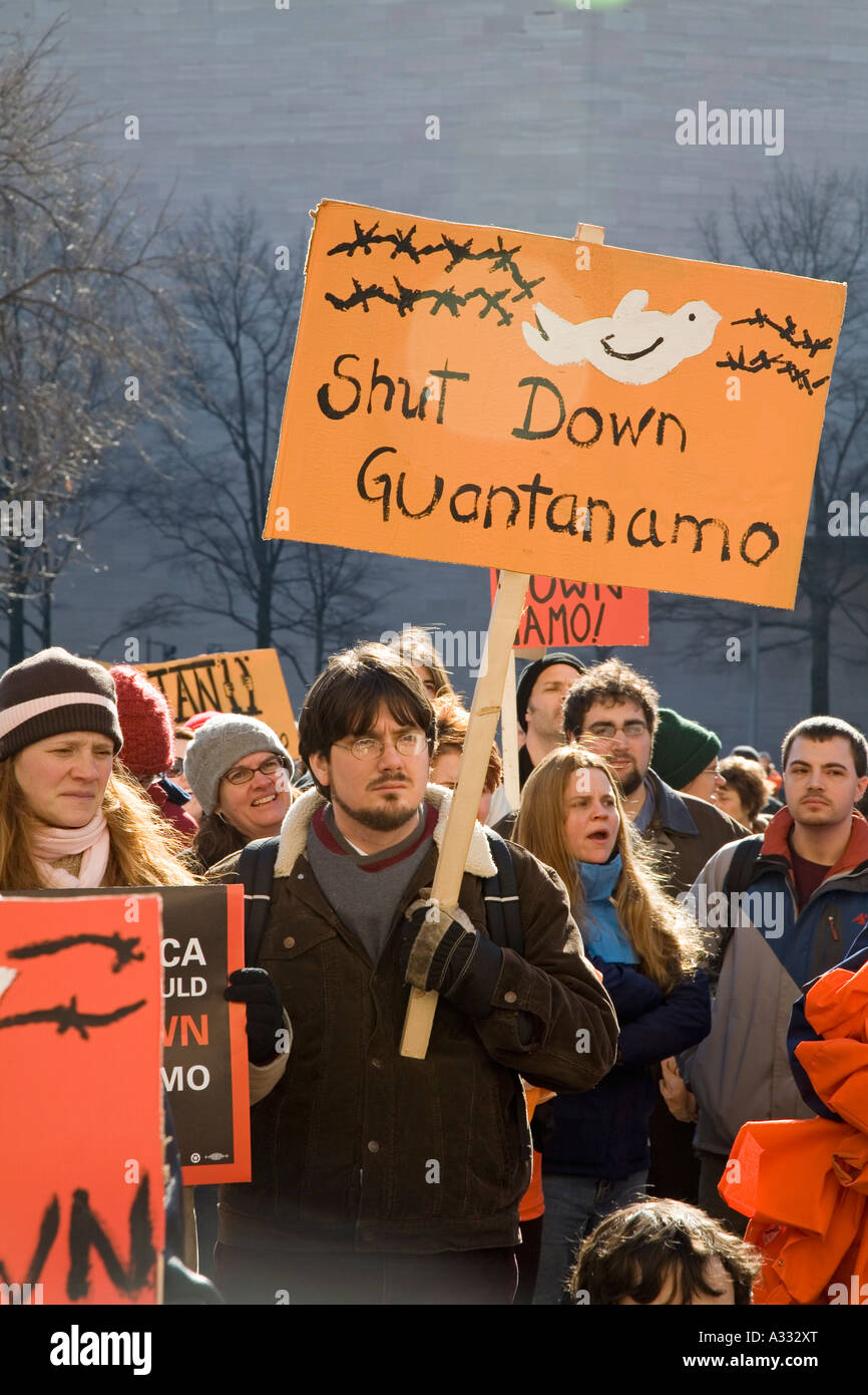 Protest Against Guantanamo Detention Center - Stock Image