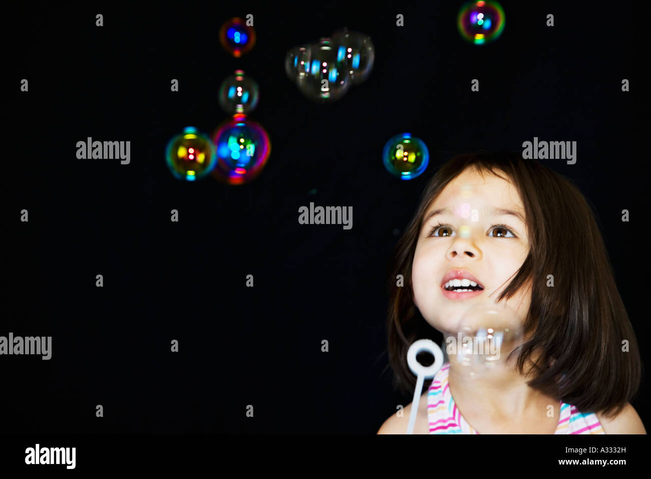 Blowing bubbles - Stock Image