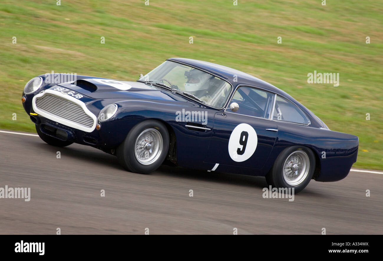 1959 Aston Martin DB4 GT during the Royal Automobile Club TT Celebration race at Goodwood. - Stock Image