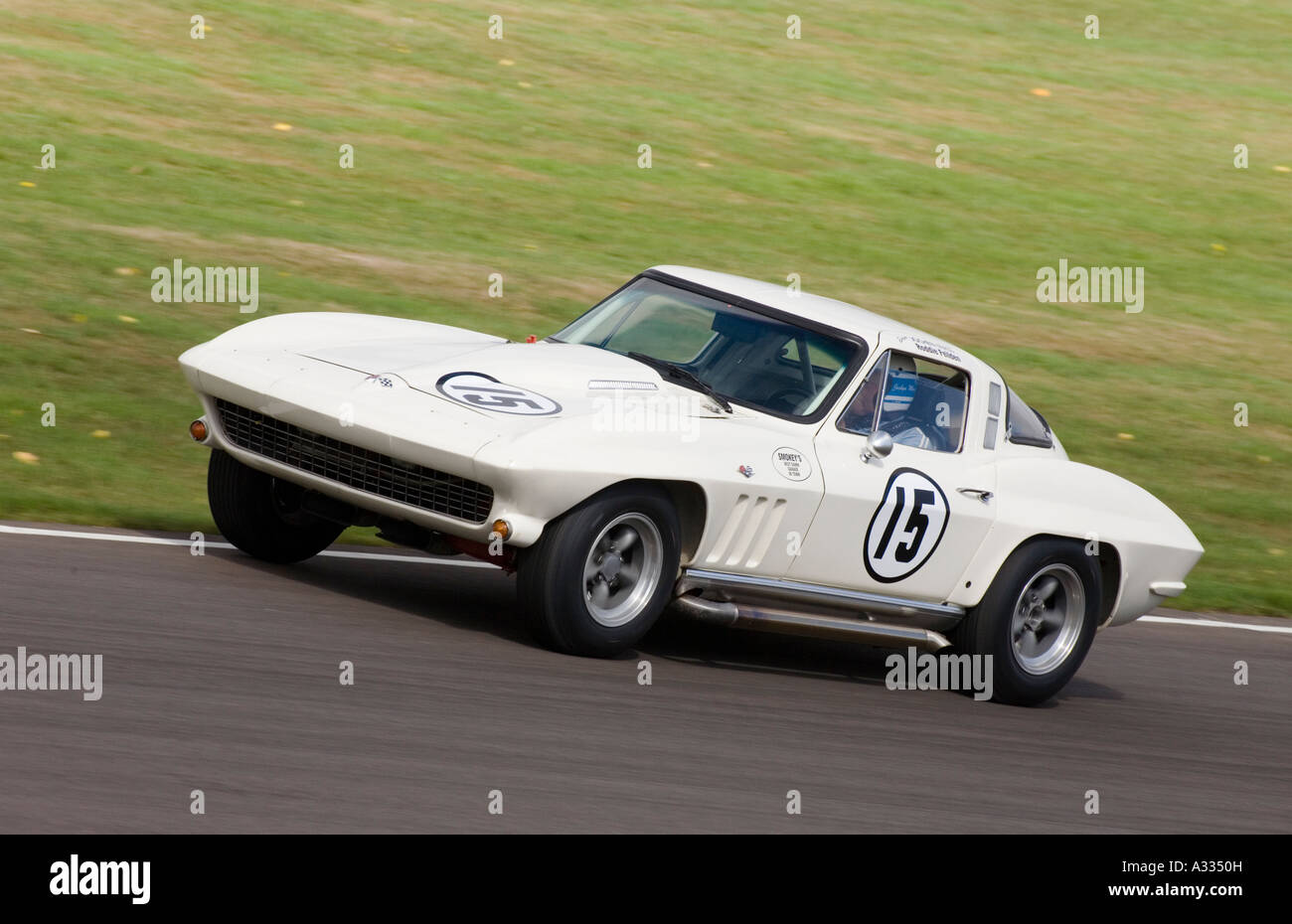 1965 Chevrolet Corvette Sting Ray during the Royal Automobile Club TT Celebration, Sussex, UK. - Stock Image