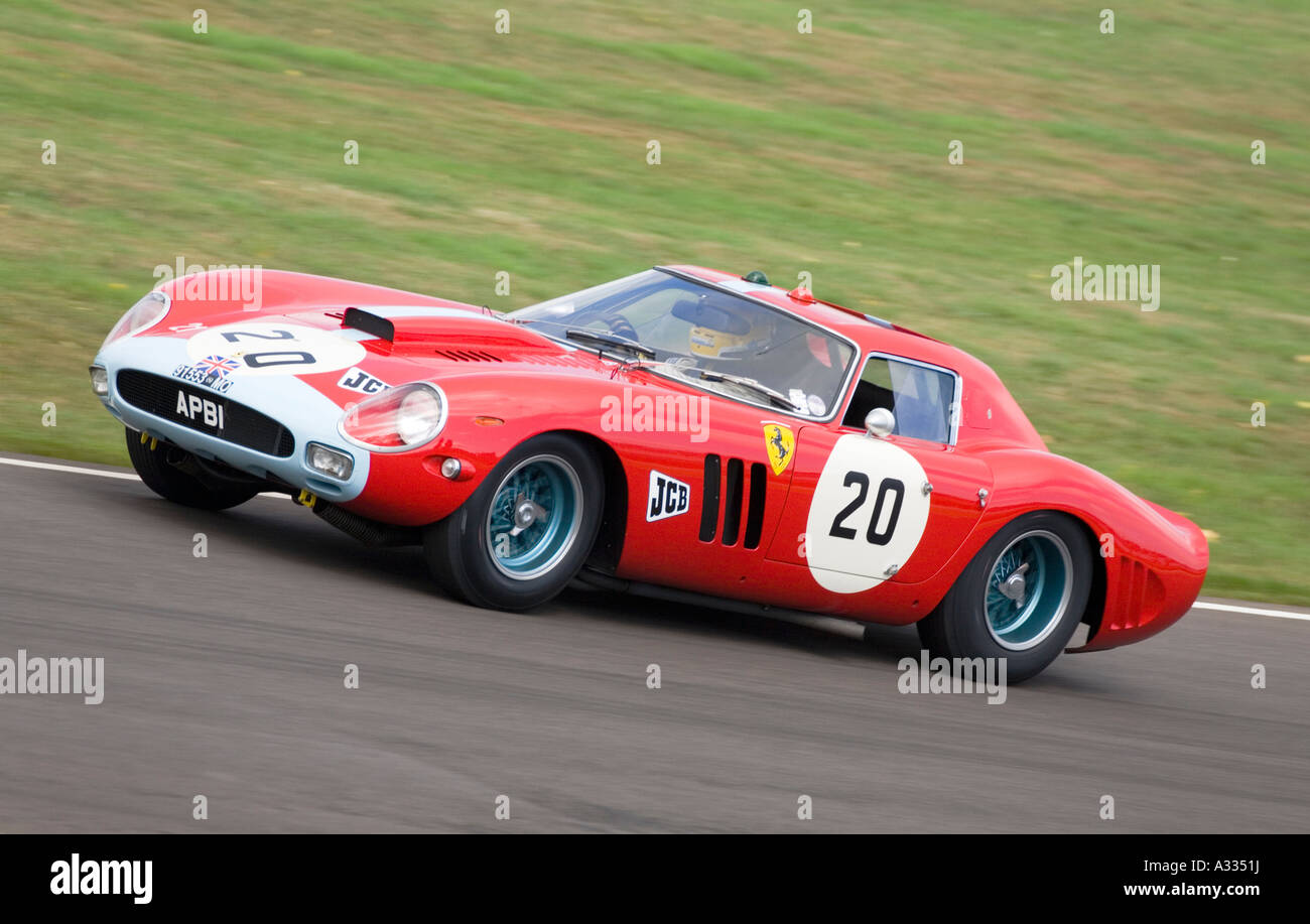 1963 Ferrari 250 GTO/64 in the RAC TT Celebration race at Goodwood Revival, Sussex, England. - Stock Image